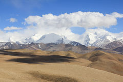 Tibetan landscape. View on Tibetan part of Himalayas Stock Image