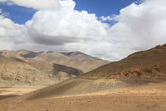 Tibetan landscape. View on Tibetan part of Himalayas Stock Photos