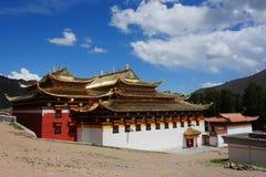 Tibetan Langmusi tempel Arkivfoton