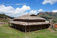 Tibetan Langmusi temple Stock Photo
