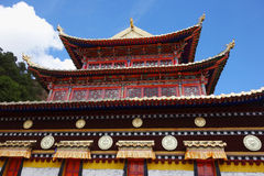 Tibetan Langmusi temple Royalty Free Stock Image