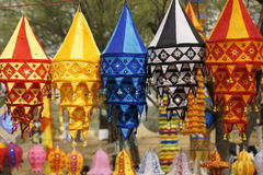 Tibetan Lanterns Royalty Free Stock Photography