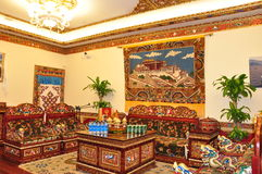 Tibetan living room. A magnificence of tibetan living room Royalty Free Stock Images