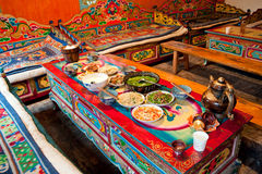 Tibetan living room Royalty Free Stock Photo