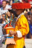 Tibetan Male Traditional Clothes Royalty Free Stock Image
