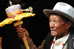 Tibetan man Stock Photo