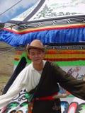 tibetan man Royaltyfri Bild