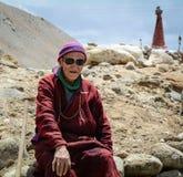 A Tibetan man at Aichi, Leh, India. A Tibetan man sitting at Aichi village, Leh, northern India Royalty Free Stock Photography