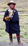 Tibetan man in Dolpo, Nepal Royalty Free Stock Photo