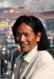 Tibetan man in Lhasa Stock Images