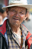 Tibetan man, Nepal Stock Photo