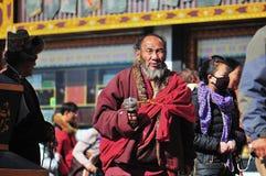 Tibetan man Stock Image