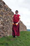 Tibetan man. In the west of sichuan province in china.  Shiqu country Stock Photography