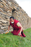 Tibetan man. In the west of sichuan province in china.  Shiqu country Royalty Free Stock Images