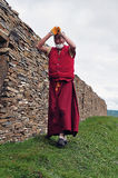 Tibetan man. In the west of sichuan province in china.  Shiqu country Royalty Free Stock Photo