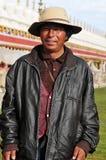 Tibetan man Stock Photo