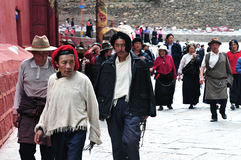 Tibetan man and women Royalty Free Stock Image