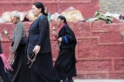 Tibetan man and women Stock Photos