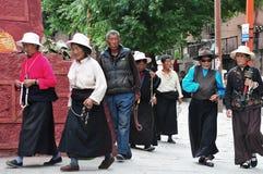 Tibetan man and women Stock Images