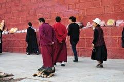 Tibetan man and women Royalty Free Stock Image