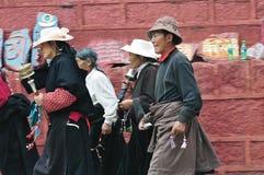 Tibetan man and women Royalty Free Stock Photo