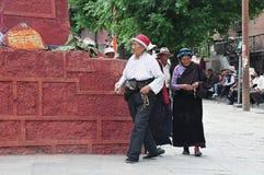 Tibetan man and women Royalty Free Stock Photos