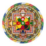 Tibetan mandala. Symbol of bhudism Royalty Free Stock Photo