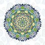 Tibetan mandala on seamless background. Mandala. Tibetan mandala on seamless background. Vintage decorative elements. Hand drawn seamless pattern. Islam, Arabic stock illustration