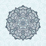 Tibetan mandala. Mandala. Tibetan mandala  on seamless background. Vintage decorative elements. Hand drawn seamless pattern. Islam, Arabic, Indian, ottoman Royalty Free Stock Photos