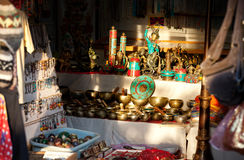 Tibetan market Royalty Free Stock Photo