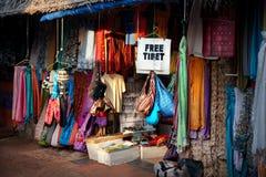 Tibetan marknad Arkivfoton