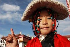 Tibetan meisje stock afbeeldingen
