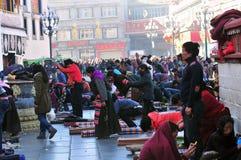 Tibetan men Stock Photo