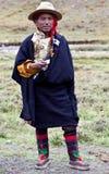 Tibetan mens in Dolpo, Nepal Royalty-vrije Stock Foto