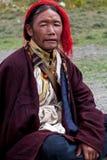 Tibetan mens in Dolpo, Nepal Royalty-vrije Stock Fotografie