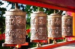 Tibetan Metal Mantra Wheel. In Monastery Royalty Free Stock Photos