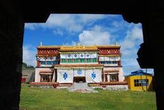 Tibetan  monastery. A scene of an old  monastery in  Chamdo ,Tibet Stock Image