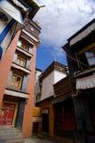 Tibetan Monastery. Exterior against a blue sky Royalty Free Stock Photo