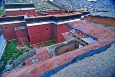 Tibetan monastery courtyard Royalty Free Stock Photo