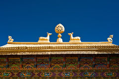 Tibetan Monastery Gates.  India, Ladakh Royalty Free Stock Photo