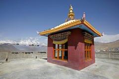 Tibetan monastery in muktinath, annapurna. Circuit, nepal royalty free stock photo