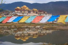 Tibetan monastery. Shangri-la. China royalty free stock photos