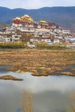 Tibetan monastery. Shangri-la. China royalty free stock photography