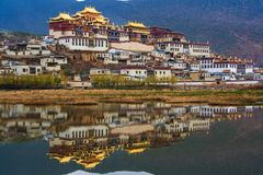 Tibetan monastery. Shangri-la. Province of Yunnan. China stock images