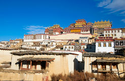 Tibetan monastery in Shangrila, China Royalty Free Stock Image