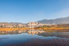 Tibetan Monastery in Shangrila. Songzanlin - Tibetan Monastery in Shangrila, Yunnan, China Royalty Free Stock Photography
