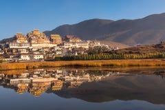 Tibetan Monastery in Shangrila. Songzanlin - Tibetan Monastery in Shangrila, Yunnan, China Stock Images