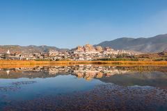 Tibetan Monastery in Shangrila Stock Image