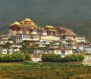 Tibetan monastery during sunset Stock Images