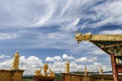 Tibetan Monastery, Zhongdian, Yunnan, China Stock Images
